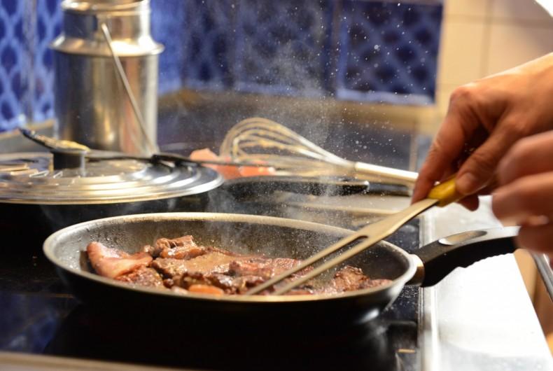 Gerichte Pfanne Feuer Herd Pfandl