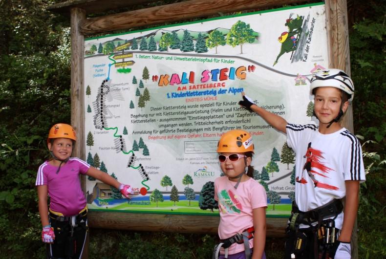 Kinderklettersteig Klettersteigschein Ramsau Kinder